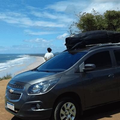 Turistas no mirante de Serra Grande