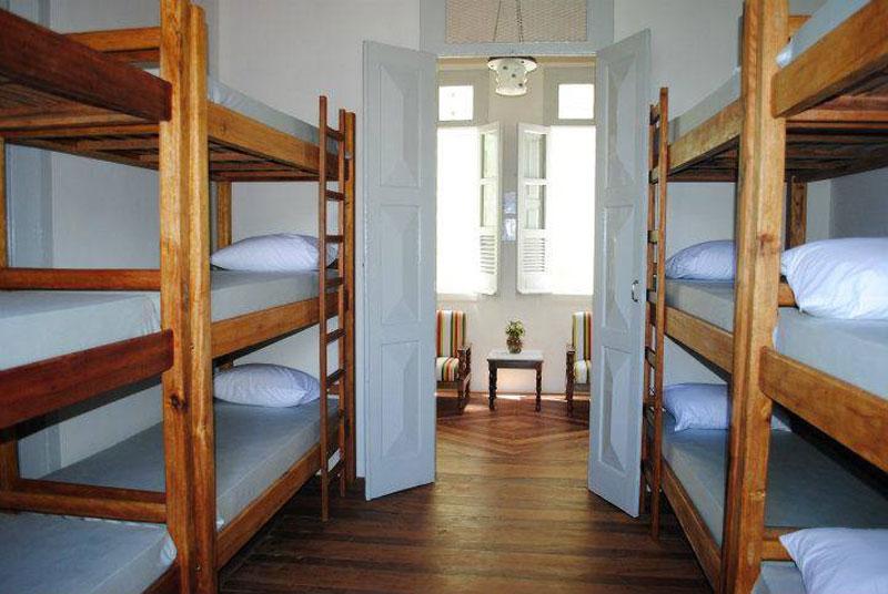 Dormitório compartilhado do hostel Casarão Verde em Itacaré