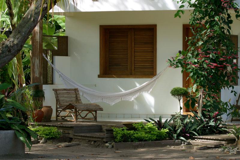 Varanda do quarto da Pousada Girassol em Itacaré