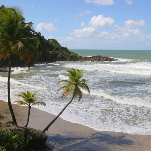Vista da praia da Engenhoca em Itacaré